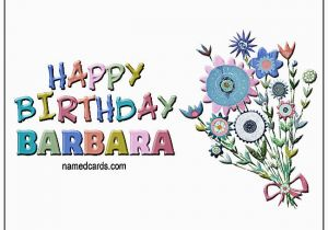 Birthday Cards With Name For Facebook Happy Barbara Card