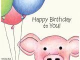 Birthday Cards with Pigs Boxed Greeting Cards Hand Drawn Cards Pig Cards