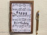 Birthday Cards with songs Happy Birthday Greeting Card Sheet Music Birthday Card