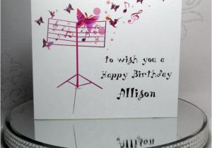 Birthday Cards With Songs Luxury Handmade Personalised Card Musical