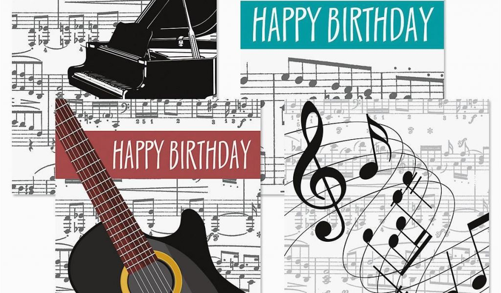 Birthday Cards With Songs Music Theme Colorful Images