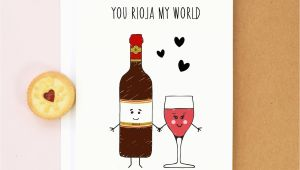Birthday Cards with Wine Wine Valentine 39 S Card Birthday Card Wine Rioja