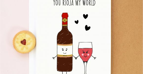 Birthday Cards with Wine Wine Valentine 39 S Card Birthday Card Wine Rioja