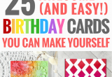 Birthday Cards You Can Make 25 Cute Diy Birthday Cards You Can Make Yourself