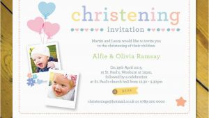Birthday Christening Joint Invitations Personalised Joint Christening Naming Day Baptism