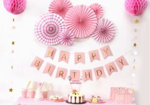 Birthday Decoration Items Online Aliexpress Com Buy Sunbeauty A Set Pink Theme Happy