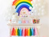 Birthday Decoration Items Online Over the Rainbow Birthday Party for Kids Blogger
