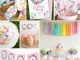 Birthday Decoration Items Online Unicorn Birthday Party Decorations Watercolor Floral
