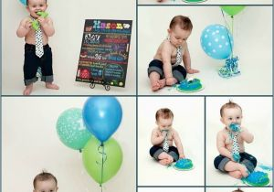 Birthday Decorations For 1 Year Old Boy Cake Smash First Baby Party One