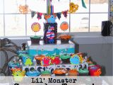 Birthday Decorations for 1 Year Old Boy Little Monster Bash Birthday Party Ideas Everyday Mom Ideas