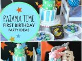 Birthday Decorations for Boys 1st Birthday A Pajama Time Boy S 1st Birthday Party Spaceships and