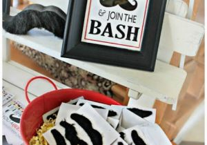 Birthday Decorations For Mens 30th Mustache Party Ideas