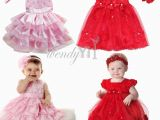 Birthday Dresses for Infants toddler Girl Party Birthday Outfit Baby Party Flower Xmas