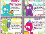 Birthday E-gift Cards Printable Redbox Birthday Gift Card Happy Birthday Monsters