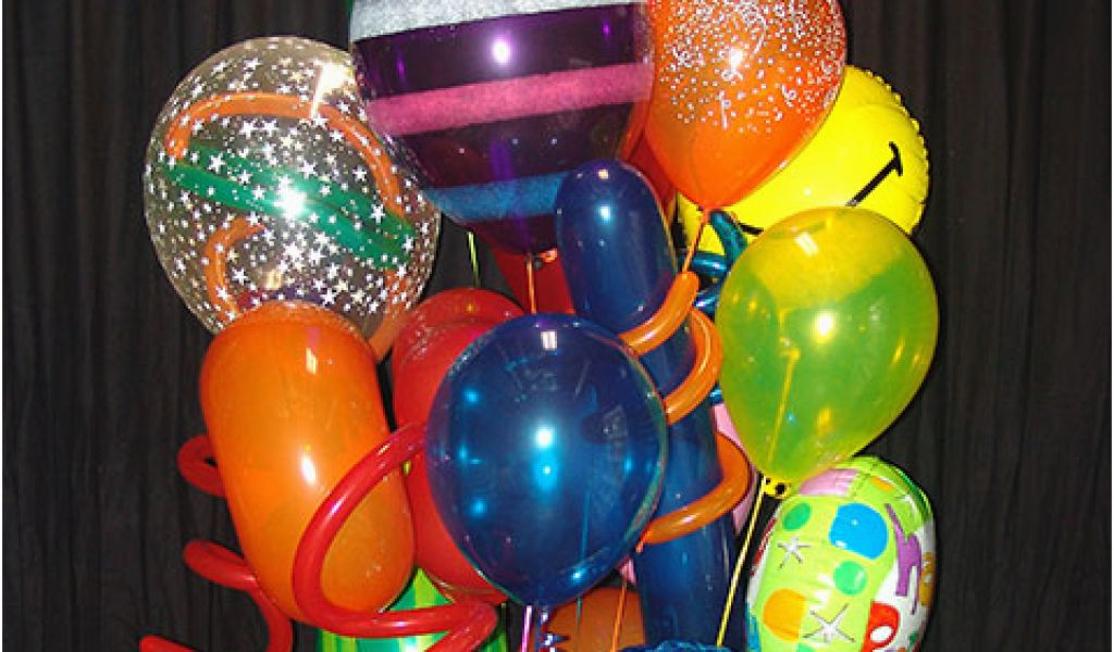 Birthday Flowers And Balloons Delivery Balloon Bouquet Party Favors