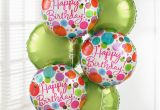 Birthday Flowers and Balloons Delivery Uk Gift Delivery Happy Birthday Balloon Bouquet isle