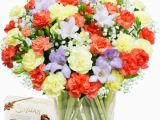 Birthday Flowers by Post Scented Birthday Bouquet Chocolates Freesias by Post