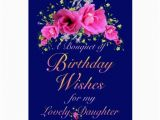 Birthday Flowers for My Daughter Daughter Birthday Bouquet Of Flowers and Wishes Card Zazzle