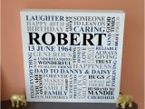 Birthday Gift for 70th Man Personalised Men 39 S Birthday Canvas 21st 30th 40th 50th