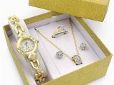 Birthday Gift for Girl Your Dating Royalty Watch Jewelry Gift Set Girlfriend Female Wife Mom