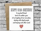 Birthday Gift for Husband Turning 65 Dinosaurcards Greetings Card Happy 65th Birthday Funny