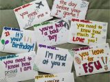 Birthday Gift Ideas for Boyfriend Ldr Open when Letters Long Distance Gift Valentines Day Gift