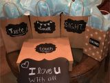 Birthday Gift Ideas for Boyfriend Pictures I Love You with All Of My Senses My Version for My