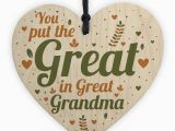Birthday Gift Ideas for Great Grandma Great Grandma Birthday Christmas Card Gifts Wooden Heart Gift