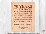 Birthday Gifts for 70th Male 70th Birthday Gifts for Men 70 Year Birthday Gift for by