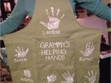 Birthday Gifts for Grandma Diy Handprint Apron Gift for Grandma Gift Ideas Grandma