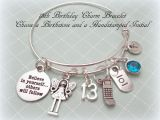 Birthday Gifts for Her 13th 13th Birthday Gift 13th Birthday Charm Bracelet Daughter