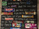 Birthday Gifts for Her 50 Years Old Dad 39 S 60th Birthday Candy Board Pparty Tricks Ideas