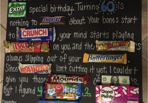Birthday Gifts For Her 50 Years Old Dad 39 S 60th Candy Board Pparty Tricks