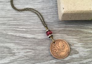 Birthday Gifts For Her Canada 50th Gift Canadian Coin Necklace 1968 One Cent