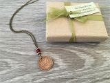 Birthday Gifts for Her Canada 50th Birthday Gift Canadian Coin Necklace 1968 One Cent