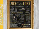 Birthday Gifts for Him 50 50th Birthday Gift for Women 50th Birthday Chalkboard 50th