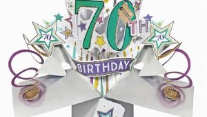 Birthday Gifts for Him Age 70 Pop Up 70th Birthday Card Find Me A Gift