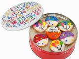 Birthday Gifts for Him Delivery Happy Birthday Nuts Gift Basket Tin Six Sectional Filled