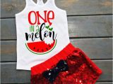 Birthday Gifts for Him From Baby One In A Melon Outfit Baby 39 S First Birthday Watermelon