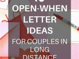 Birthday Gifts for Him Long Distance Diy Long Distance Gifts Open when Letters Distance