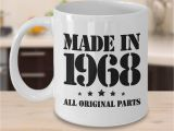 Birthday Gifts for Him Mugs 51st Birthday Gifts for Him Made In 1968 Happy 51 Year