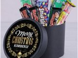 Birthday Gifts for Him Netflorist Personalised Golden Christmas Chocolate Hat Box