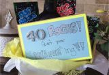 Birthday Gifts for Him Turning 40 40th Birthday Gift Idea Creative Gift Ideas Pinterest