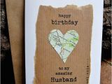 Birthday Gifts for Husband Etsy Birthday Card Husband Wife with Vintage Map Personalised Dad