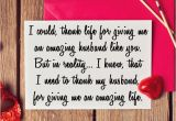 Birthday Gifts to Send In the Mail for Him Sweet Thank You Note for Husband Heart Valentines Day Card