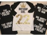 Birthday Girl and Friends Shirts the Chocolate Friend Tshirt Back