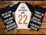 Birthday Girl and Squad Shirts Birthday Squad Shirts Birthday Girl 21st Birthday Birthday