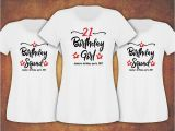 Birthday Girl and Squad Shirts Personalised 18th 21st 30th 40th 50th Birthday Girl Squad