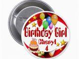 Birthday Girl buttons Birthday Girl button 3 button Zazzle