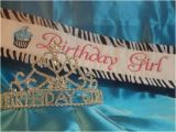 Birthday Girl Crown and Sash Birthday Girl Sash and Tiara